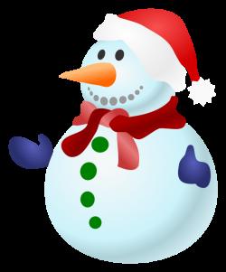 Free Christmas Snowman Clipart