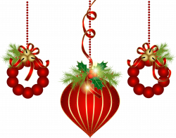Transparent Red Christmas Ornaments PNG Clipart - ClipArt Best ...