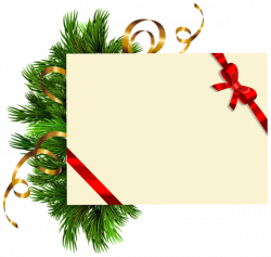 Christmas Blank with Pine Branches PNG Clipart Image   TEMPLATES ...