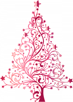 Pink Christmas Tree Clipart   Site about Children
