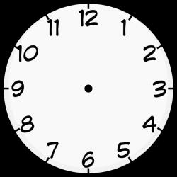 clock template printable | Purzen Clock Face clip art - vector clip ...
