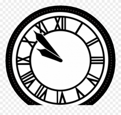 Back To The Future Clock Tower Black Clipart (#1427918 ...