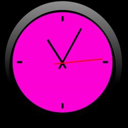 Clock Pink A | Free Images at Clker.com - vector clip art online ...