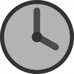 Gray Clock Clip Art at Clker.com - vector clip art online, royalty ...