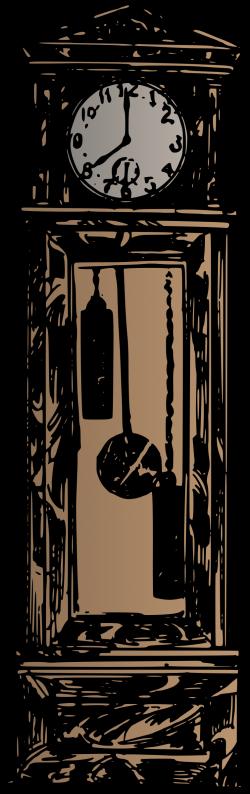 Clipart - Grandfather Clock - Colour