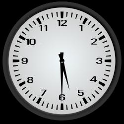 Clipart - Half Past 5 o'clock