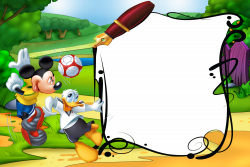 Mickey Mouse and Duck Kids Transparent PNG Photo Frame | classroom ...