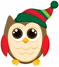 Clipart Christmas Owls christmas owl clip art patterns holiday ...