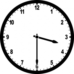 Clock 3:30 | ClipArt ETC