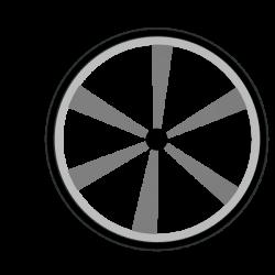Wagon Wheel Gray Clip Art at Clker.com - vector clip art online ...
