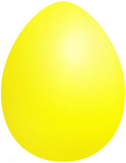Yellow Easter Egg PNG Clip Art - Best WEB Clipart