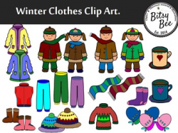 FREEBIE WINTER CLOTHES CLIP ART by Bitsybee | Teachers Pay Teachers