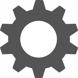 Gear Silhouette at GetDrawings.com | Free for personal use Gear ...