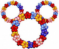 Mickey Mouse Icon Tattoos in flowers. With some shading this could ...