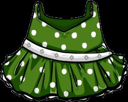 Image - Green Polka-Dot Dress.png | Club Penguin Wiki | FANDOM ...