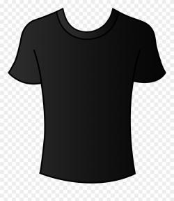 Free Clip Art Clothing Clipart - Black T Shirt Top - Png ...
