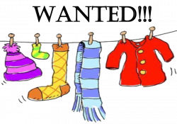 Winter Clothing Drive Clip Art