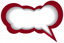 Speech Bubble Red White PNG Clip Art Image | Gallery Yopriceville ...