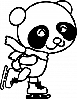 Skating Panda Coloring Page Icons PNG - Free PNG and Icons Downloads