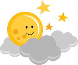 PPbN Designs - Cute Moon with Clouds and Stars, $0.50 (http://www ...