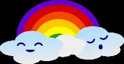 Clipart - Kawaii Rainbow