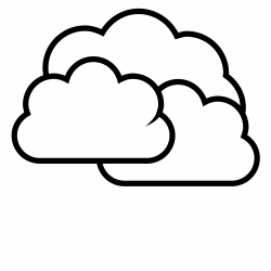 Cloud clipart black n white - Pencil and in color cloud clipart ...