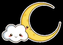 Kawaii Cloud and Moon by SunnySerenade.deviantart.com on @deviantART ...