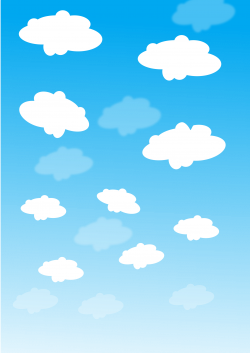 Clipart - sky with clouds