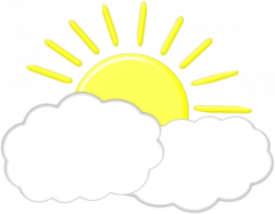 Clipart - Sun Behind Clouds (remix)