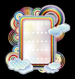 Borders and Frames Rainbow Cloud Clip art - Clouds Text Box 1946 ...