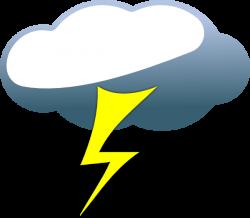 Lightning Cloud Clip Art at Clker.com - vector clip art online ...