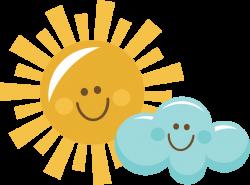 Happy Sun And Cloud SVG scrapbook title sun svg cut file sun cut ...