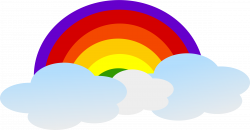 28+ Collection of Rainbow Cloud Clipart | High quality, free ...
