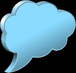 Speech Bubble Cloud Transparent PNG Image | thought bubble images ...