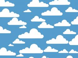 OnlineLabels Clip Art - Simple Clouds