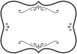 Decorative Black And White Flourish Frame Icons PNG - Free PNG and ...