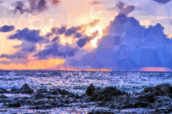 Clipart - Low Poly Madagascar Sunset