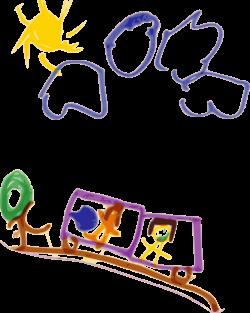 Public Domain Clip Art Image | Kindergarten Art Train | ID ...