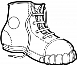 28+ Collection of Hiking Boots Clipart Black And White | High ...