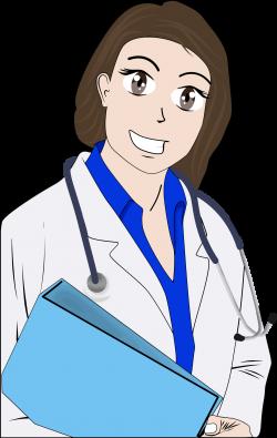 Clipart - Cartoon Female Doctor