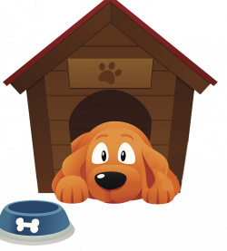 Dog Houses Pet sitting Kennel Clip art - A puppy lying on the ground ...