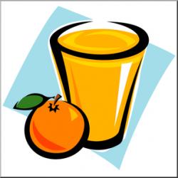 Clip Art: Orange Juice 2 Color I abcteach.com | abcteach