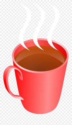 Coffee Steaming Hot Drink Cup Transparent Image - Red Hot ...