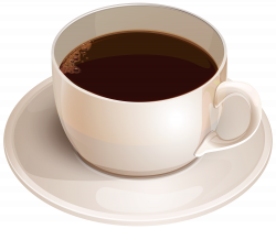 White Cup with Coffee PNG Clipart - Best WEB Clipart