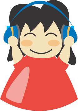 Clipart - Girl with headphone3