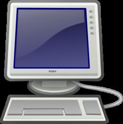 Computer Screen And Keyboard Clip Art at Clker.com - vector clip art ...