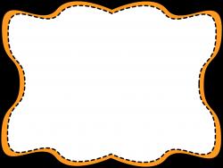 Orange Wavy Stitched Frame - Free Clip Art Frames