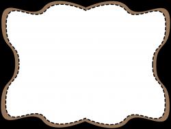 Brown Wavy Stitched Frame - Free Clip Art Frames