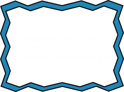 Blue Zig Zag Frame - Free Clip Art Frames