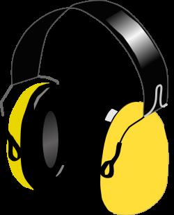 OnlineLabels Clip Art - Yellow Headphones